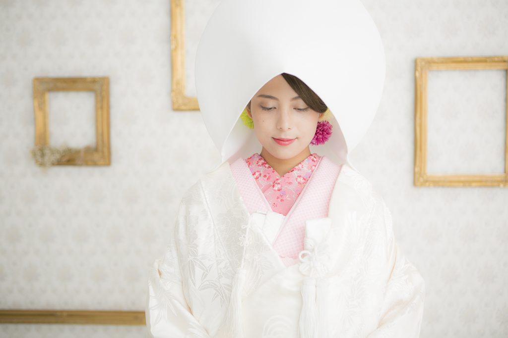 白無垢と綿帽子🌺