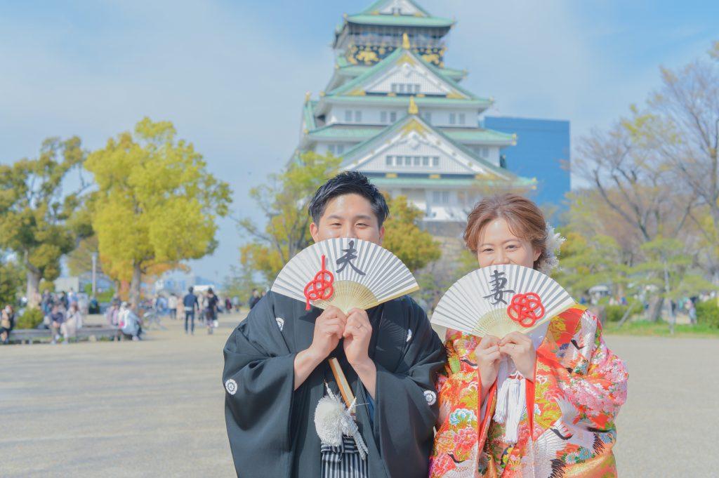 大阪城のロケーション撮影