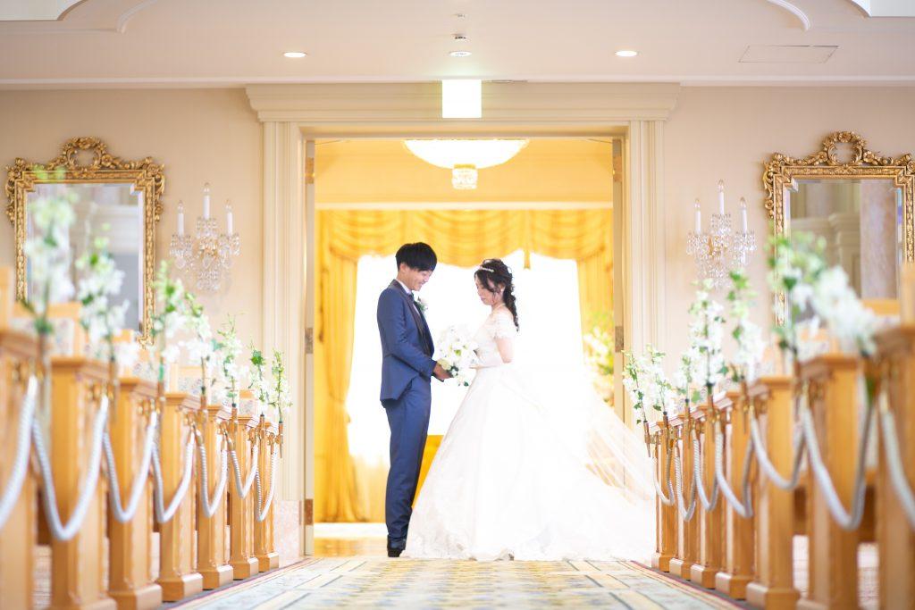 チャペル撮影で結婚式のような写真を📷